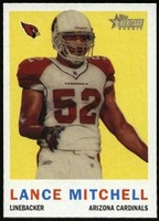 2005 Topps Heritage Lance Mitchell Rookie NFL Football Card