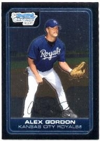 2006 Bowman Chrome Prospects Alex Gordon Baseball Card