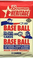 2006 Bowman Heritage Baseball Cards Hobby Pack