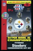 2006 Pittsburgh Steelers Super Bowl XL Champions Topps Commemorative Gift Team Set