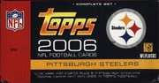 2006 Topps Factory NFL Football Cards Pittsburgh Steelers Team Edition Set