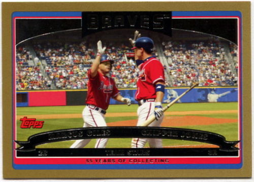 Chipper Jones 2006 Topps # 328 NM//M Baseball Card Marcus Giles