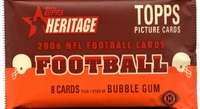 2006 Topps Heritage NFL Football Cards Hobby Pack