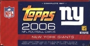 2006 Topps NFL Football Cards New York Giants Team Edition Factory Set