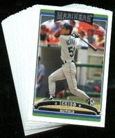 2006 Topps Seattle Mariners MLB Baseball Cards Team Set