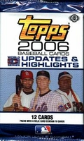 2006 Topps Updates & Highlights Baseball Cards Hobby Pack