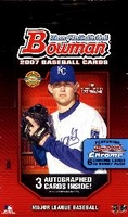 2007 Bowman Baseball Cards Jumbo Packs HTA Hobby Box