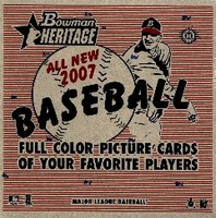 2007 Bowman Heritage Baseball Cards Box