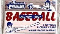 2007 Bowman Heritage Baseball Cards Hobby Pack