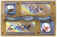 2007 Bowman Sterling Dual Autographed Gold Refractors Vince Young & Earl Campbell NFL Football Card