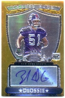 2007 Bowman Sterling Gold Rookie Autographed Zak DeOssie NFL Football Card