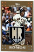 2007 Topps Barry Bonds Home Run Touched Base Relic Baseball Card