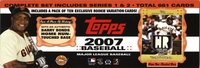 2007 Topps Baseball Cards Factory Set Barry Bonds Edition