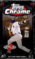 2007 Topps Chrome Baseball Cards Box