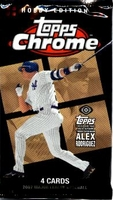 2007 Topps Chrome Baseball Cards Hobby Pack