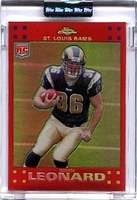 2007 Topps Chrome Red Refractors Uncirculated Brian Leonard NFL Football Card