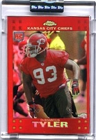 2007 Topps Chrome Red Refractors Uncirculated DeMarcus Tank Tyler NFL Football Card