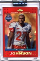 2007 Topps Chrome Red Refractors Uncirculated Larry Johnson Pro-Bowl NFL Football Card