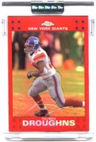 2007 Topps Chrome Red Refractors Uncirculated Reuben Droughns NFL Football Card