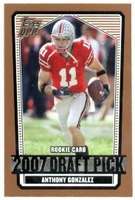 2007 Topps Draft Picks and Prospects Anthony Gonzalez Rookie NFL Football Card