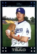 2007 Topps Factory Set Dodgers Team Bonus Chin-Hui Tsao Baseball Card
