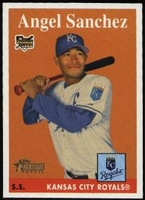 2007 Topps Heritage Angel Sanchez Rookie Baseball Card
