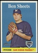 2007 Topps Heritage Ben Sheets Baseball Card