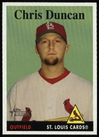 2007 Topps Heritage Chris Duncan Baseball Card