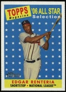 2007 Topps Heritage Edgar Renteria All-Star Baseball Card