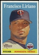 2007 Topps Heritage Francisco Liriano Baseball Card