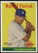 2007 Topps Heritage Rafael Furcal Team Name in Yellow Baseball Card