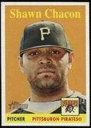 2007 Topps Heritage Shawn Chacon Baseball Card (Name In Yellow)