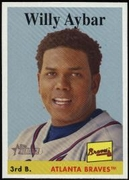 2007 Topps Heritage Willy Aybar Baseball Card