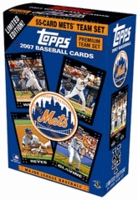 2007 Topps New York Mets Limited Edition 55 Card Premium Gift Baseball Cards Team Set