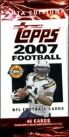 2007 Topps NFL Football Cards HTA Hobby Jumbo Pack