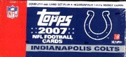 2007 Topps NFL Football Cards Indianapolis Colts Team Edition Factory Set