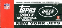 2007 Topps NFL Football Cards New York Jets Team Edition Factory Set