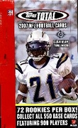 2007 Topps Total NFL Football Cards Box