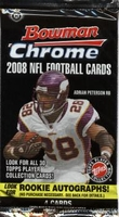 2008 Bowman Chrome NFL Football Cards Hobby Pack