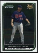 2008 Bowman Chrome Nick Blackburn Rookie Baseball Card
