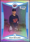 2008 Bowman Chrome Prospects Refractors Ryan Mullins Baseball Card
