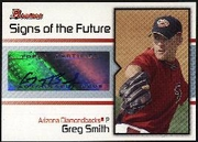 2008 Bowman Signs of the Future Greg Smith Autographed Baseball Card