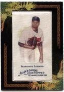 2008 Topps Allen and Ginter Mini Framed Cloth Francisco Liriano Baseball Card