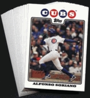 2008 Topps Chicago Cubs Baseball Cards Team Set