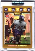 2008 Topps Chrome Uncirculated Gold Refractors Marcus Griffin Rookie NFL Football Card