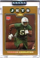 2008 Topps Chrome Uncirculated Gold Refractors Vernon Gholston Rookie NFL Football Card