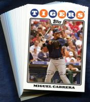 2008 Topps Detroit Tigers Baseball Cards Team Set