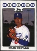 2008 Topps Factory Set Los Angeles Dodgers Team Bonus Chan Ho Park Baseball Card