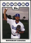 2008 Topps Factory Set Los Angeles Dodgers Team Bonus Esteban Loaiza Baseball Card