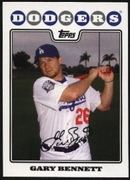 2008 Topps Factory Set Los Angeles Dodgers Team Bonus Gary Bennett Baseball Card